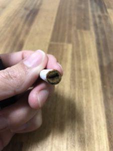 吸い終わった後のヒートスティック